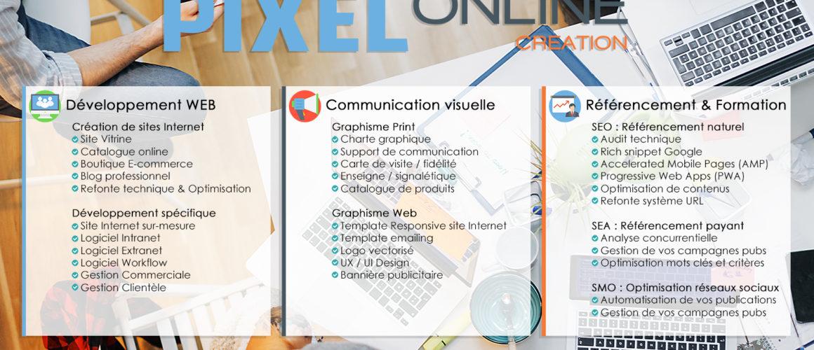 Pixel Online Création   La ch ti agence Web du nord - recit 432654632519